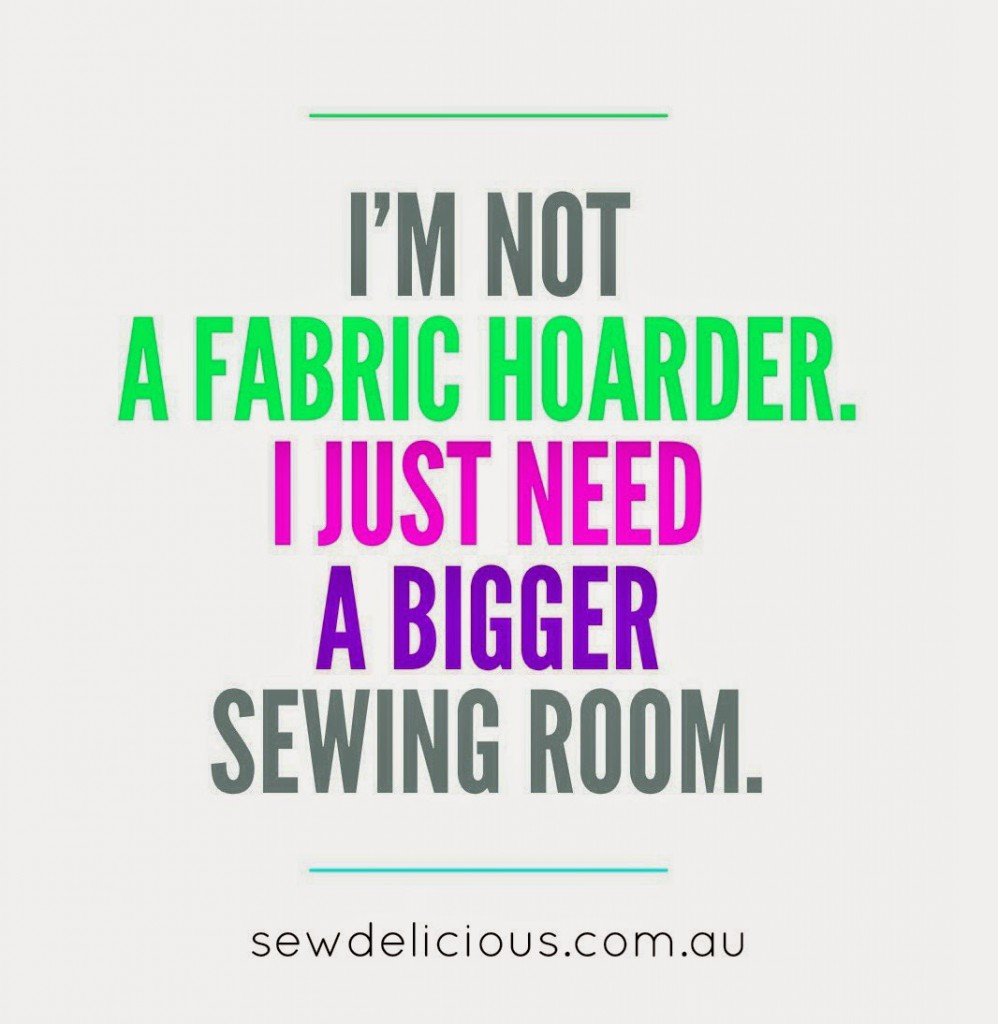 not a fabric hoarder edit